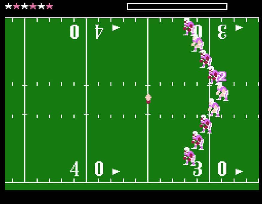 Tecmo Bowl - a typical game