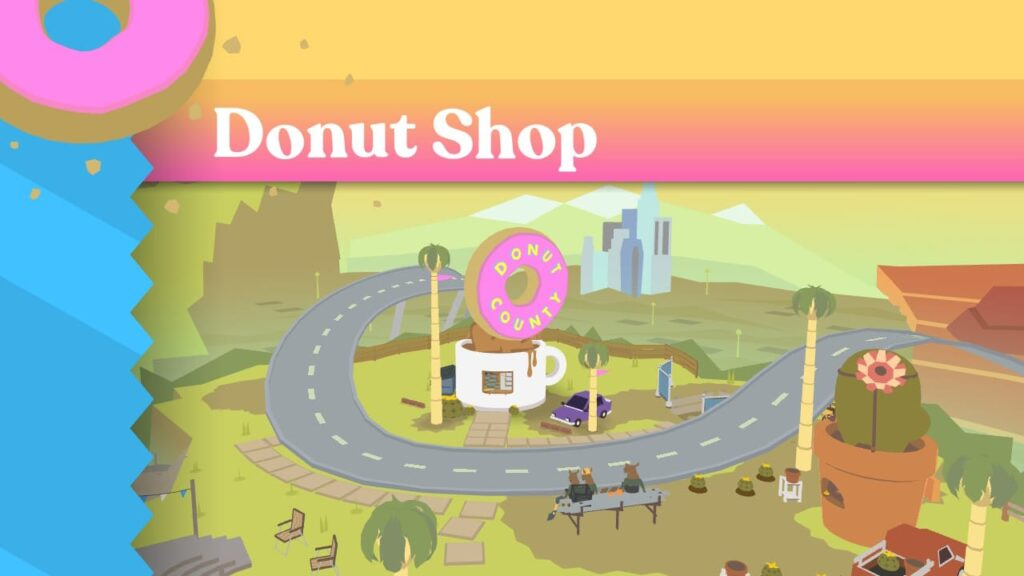 Donut County - The donut shop screen