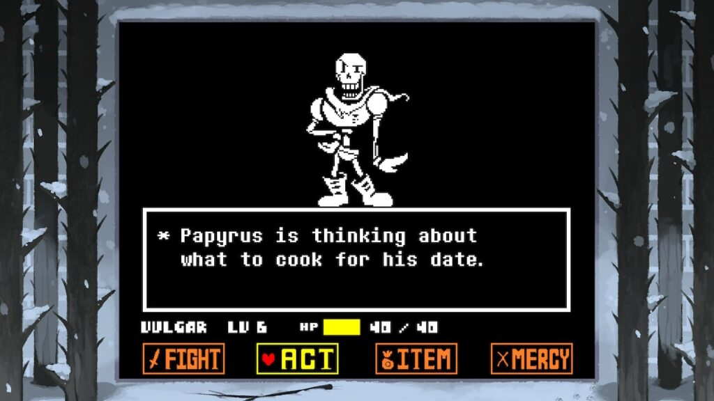 Undertale - Flirting with Papyrus