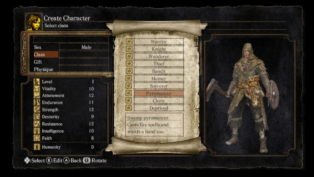 Dark Souls Remastered - Pyromancer build