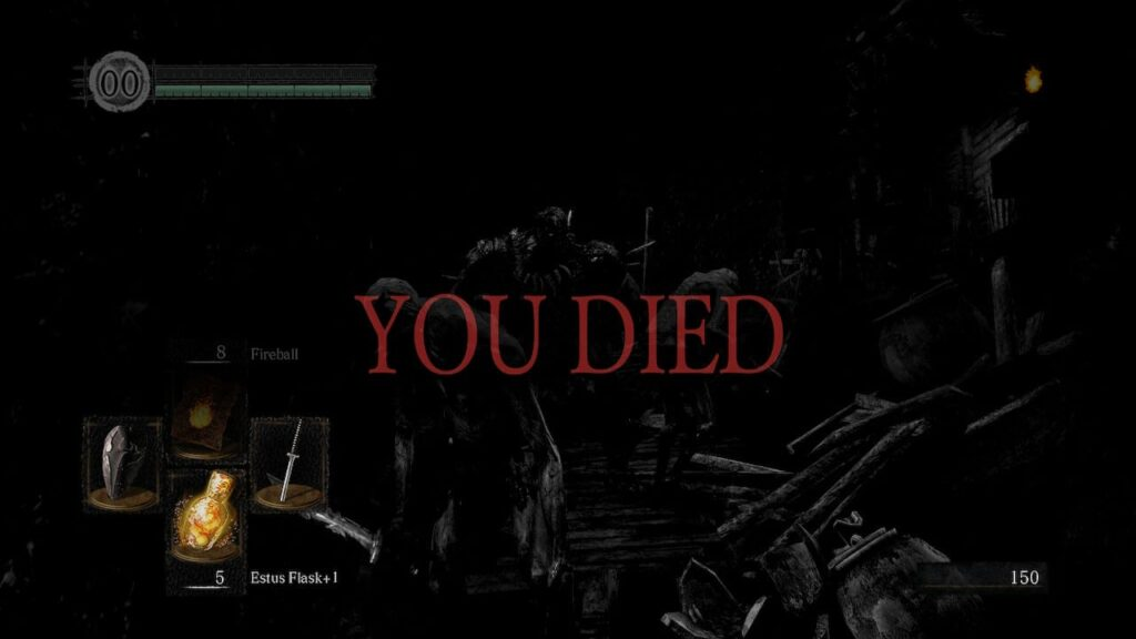Dark Souls Remastered - One of many 'You Died' screens