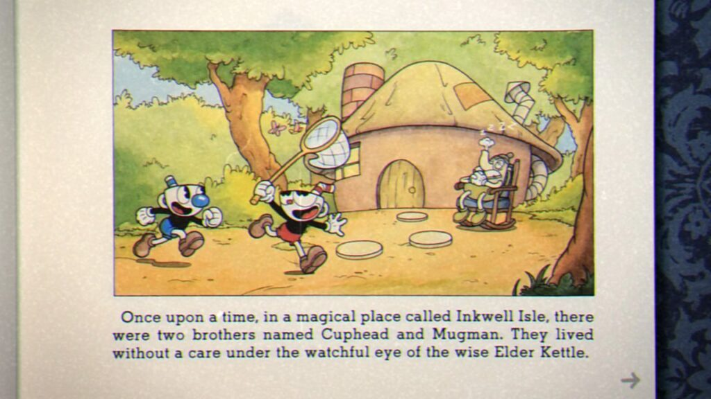 Cuphead - First page of the Cuphead storybook