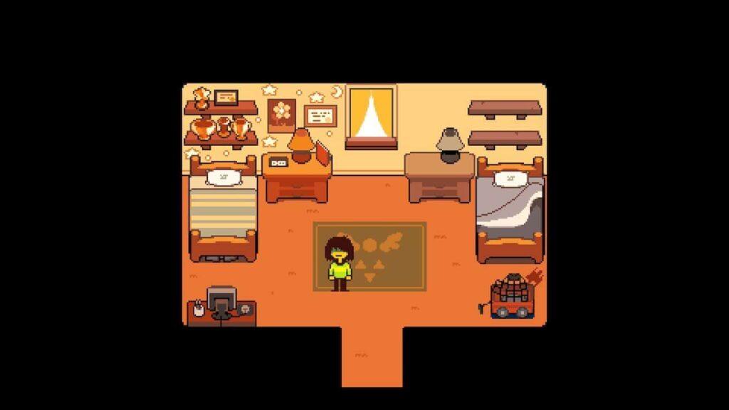 In the hero's bedroom