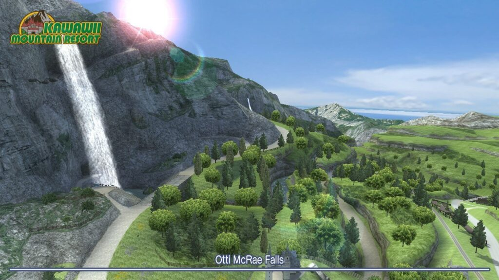 Go Vacation - Otti McRae Falls aerial shot