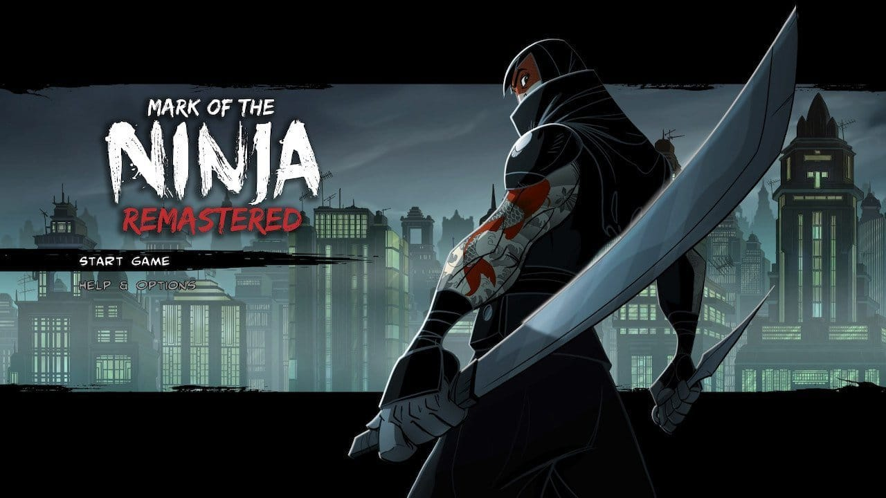 Mark of the Ninja Remastered title screen