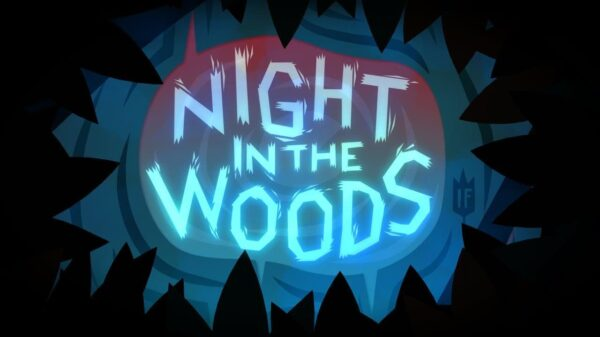 Night in the Woods title screen