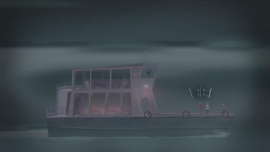 Oxenfree Switch Review - On the boat on the way to the island in Oxenfree