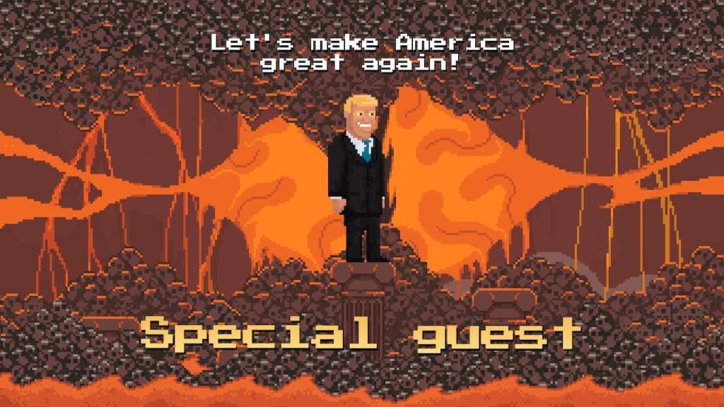 Donald Trump appears as a special guest