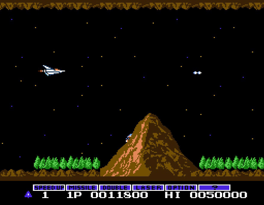 Gradius starting level - before it gets difficult...