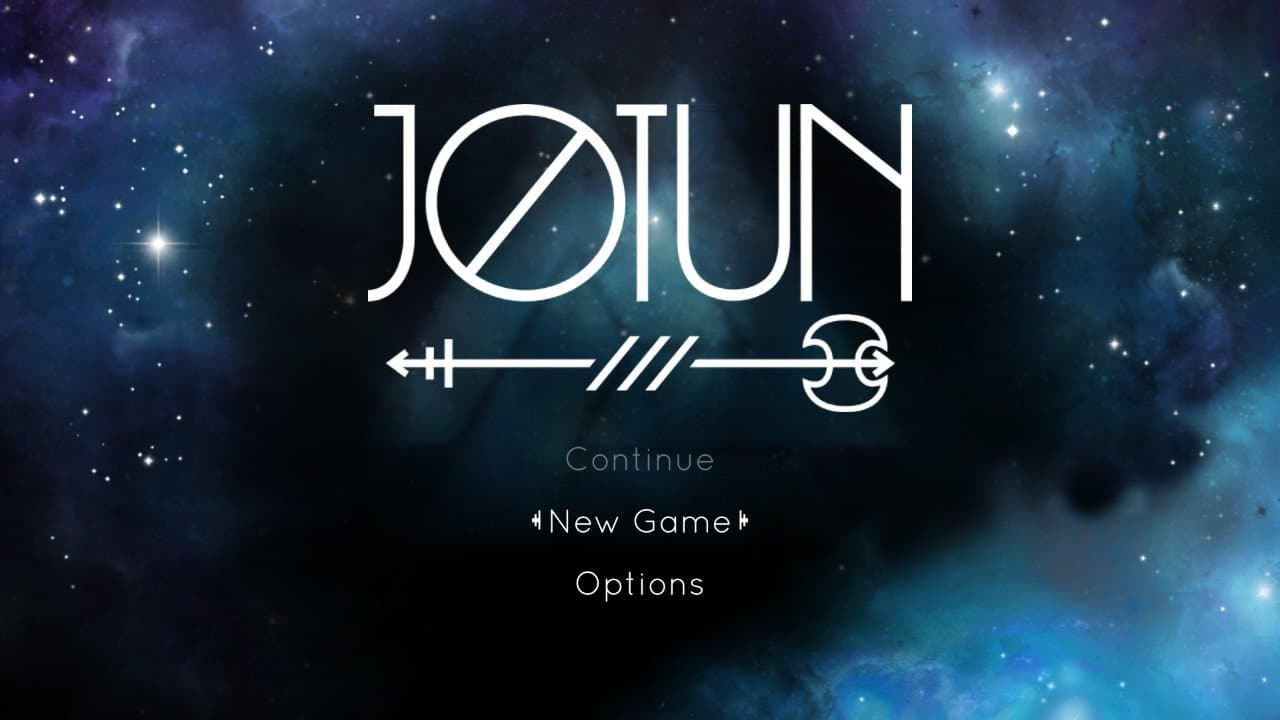 Jotun title screen