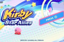 Kirby Star Allies - Title screen
