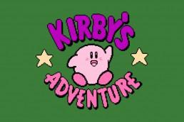 Kirby's Adventure title screen