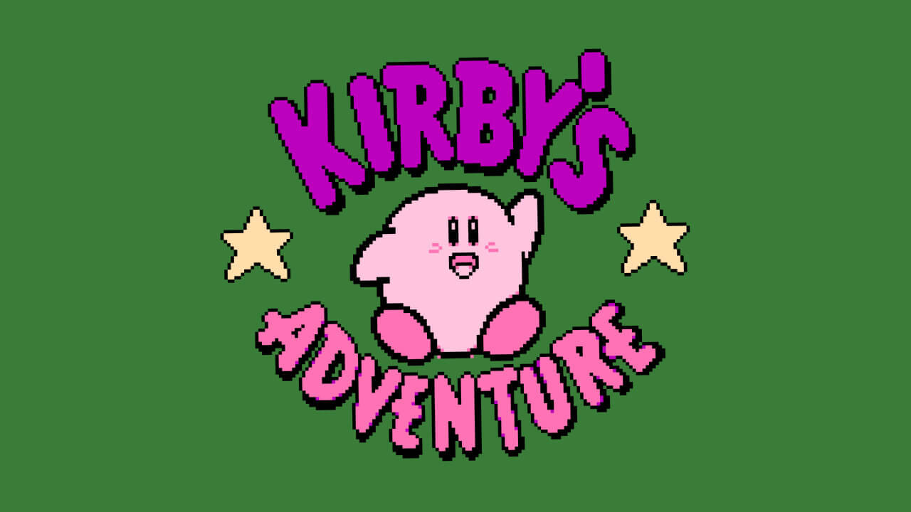 Kirby's Adventure title screen