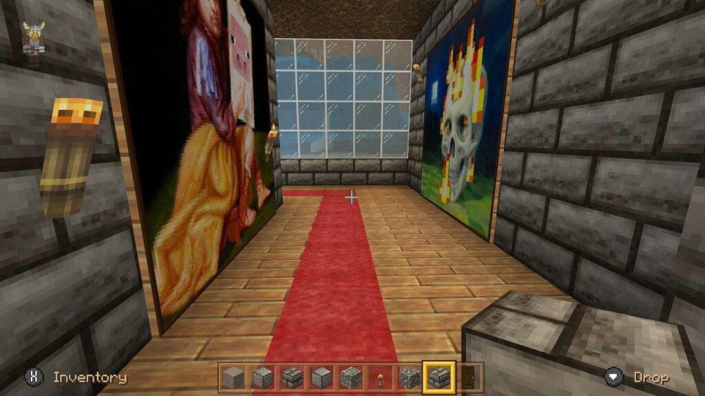 The hallway of the underground home