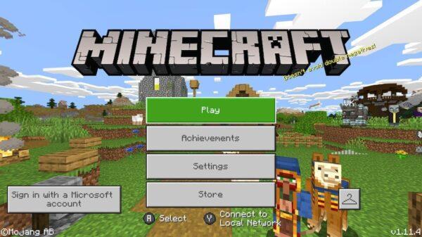 Minecraft - Title screen