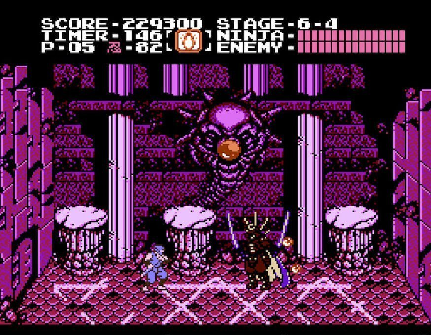 One of the bosses in Ninja Gaiden on the NES