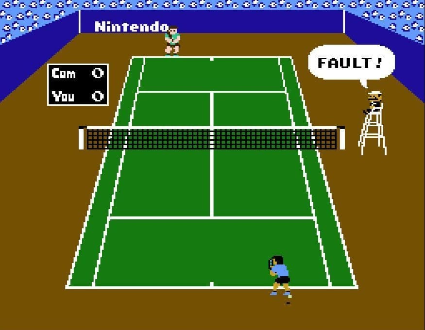 NES Tennis fault on the court