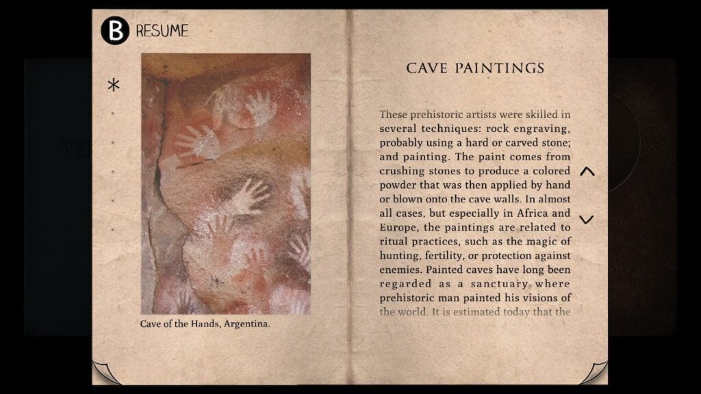 Type:Rider introduces excerpts from history such as these cave paintings