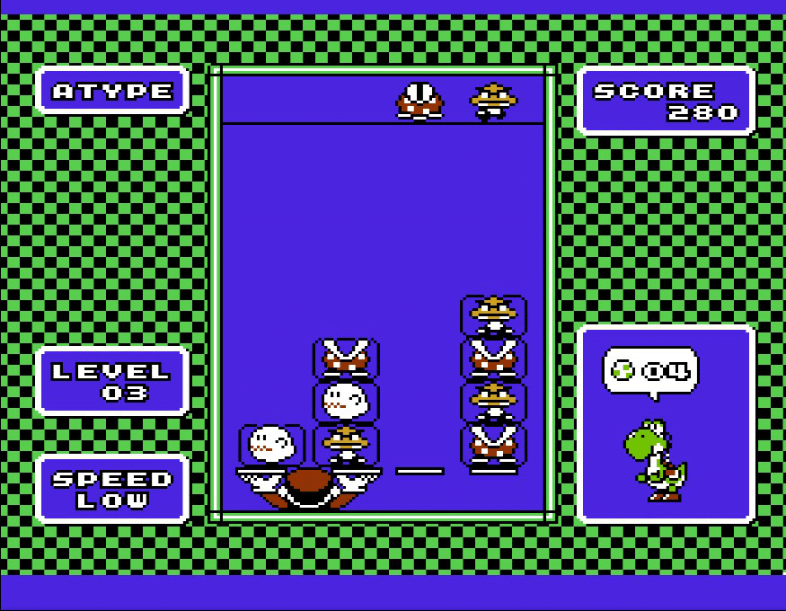 Level 3 screen, Yoshi for the NES