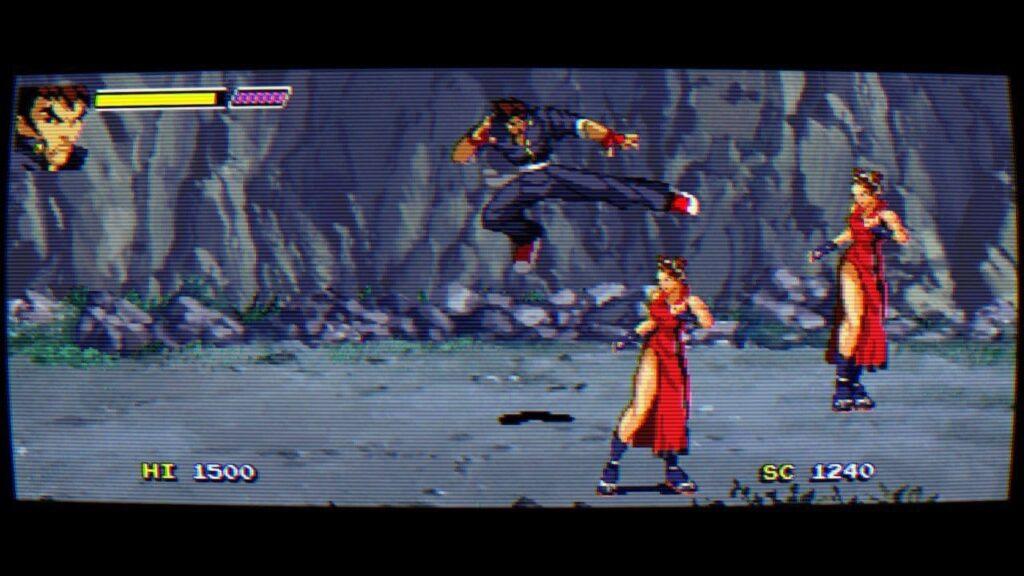 Flying kick in Gekido survival