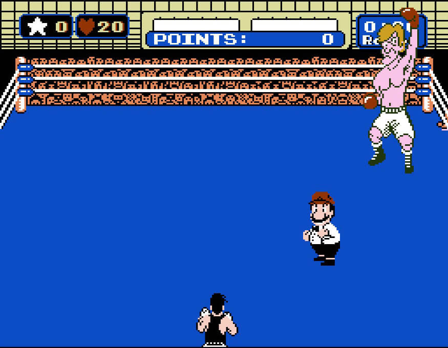 The very first match, before the bell, Punch-Out!!