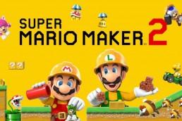 Super Mario Maker 2 title screen