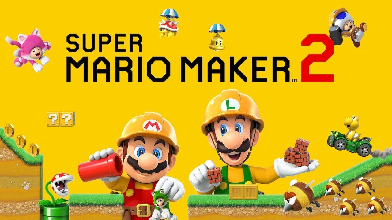 Super Mario Maker 2 title screen