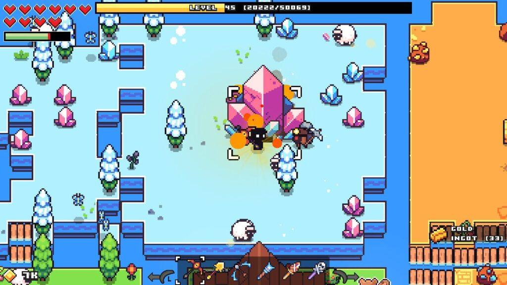 Mining a big crystal