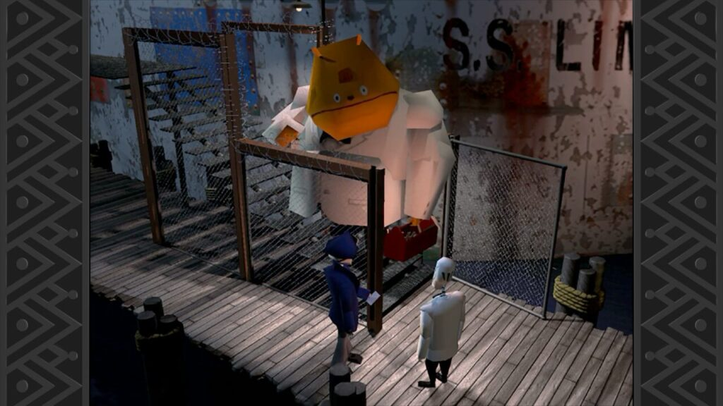 Departing with Glottis on the ship outta Dodge