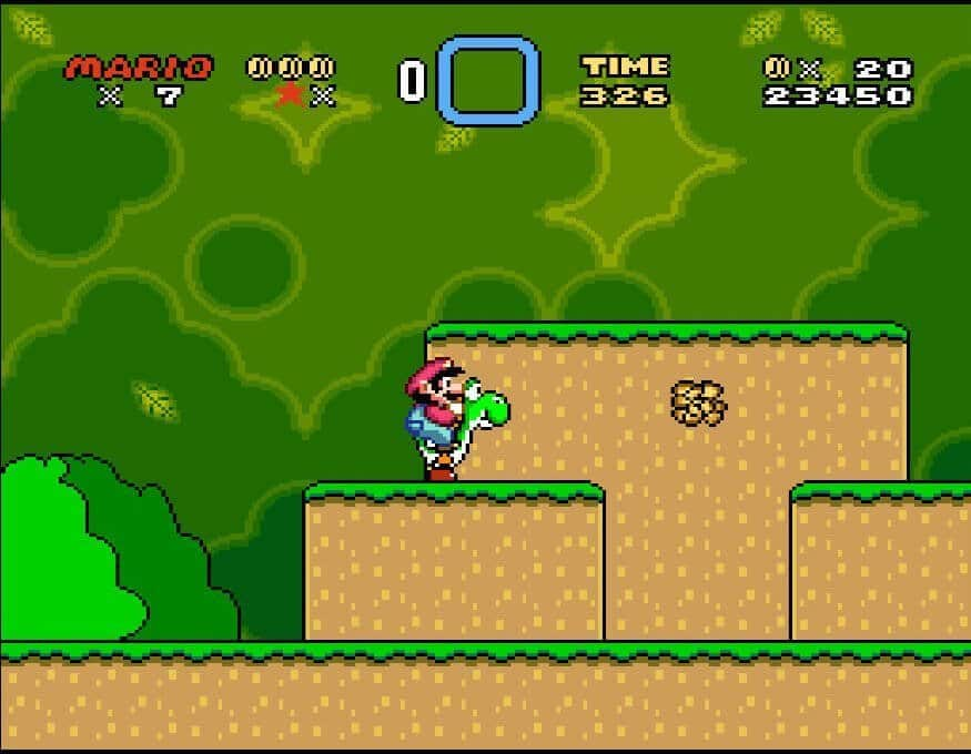 Super Mario World: Imminent mole about to appear