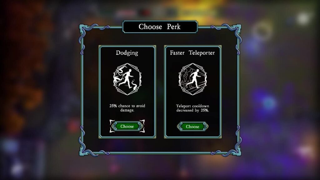 When levelling up, you get the choice of two perks to choose from to use in that wave