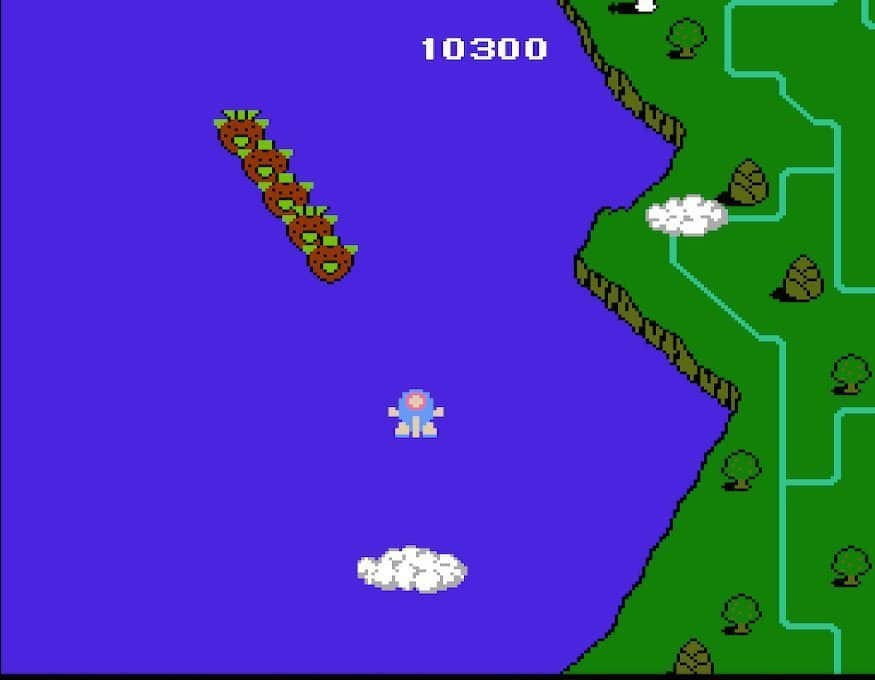 The opening stage of TwinBee