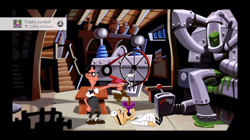 Unlocking an achievement for waking up the Dr in Day of the Tentacle