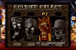 Character selection screen, Metal Slug 3