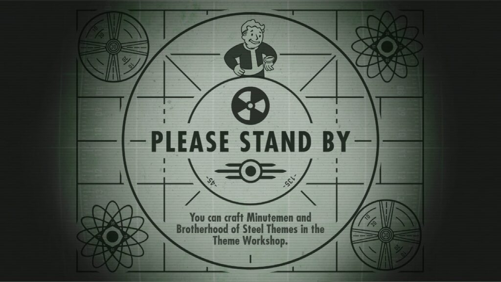 The loading screen for Fallout Shelter