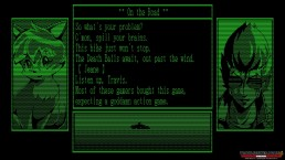 Travis Strikes Again No More Heroes text adventure dialogue