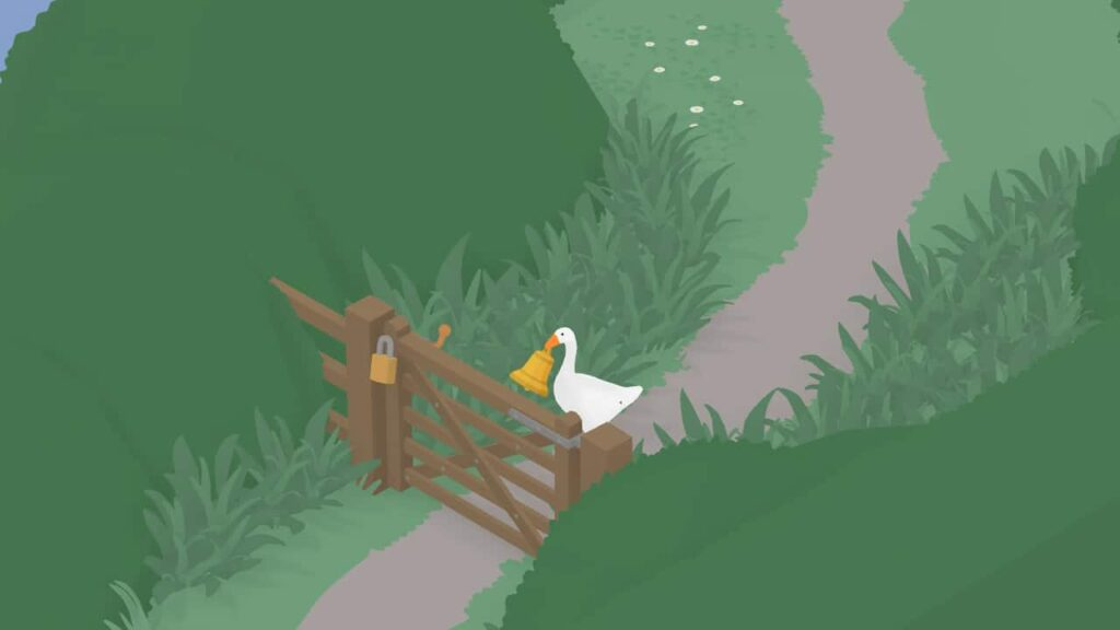 Goose reaches a locked gate