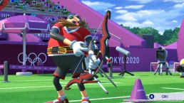Dr Eggman steps up for a first shot in archery