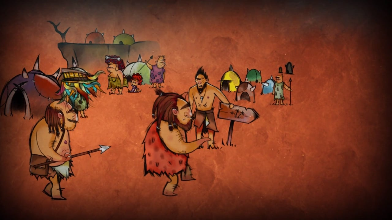 Jet Kave Adventure - cavemen drawings/intro
