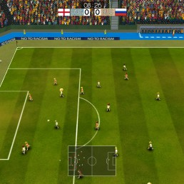 Open play in Super Arcade Soccer
