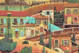 Old Man's Journey - a vibrant city