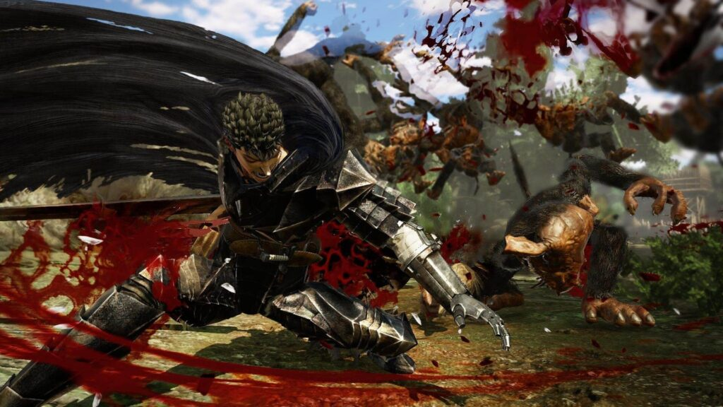 Guts: painter and decorator with a palette of red