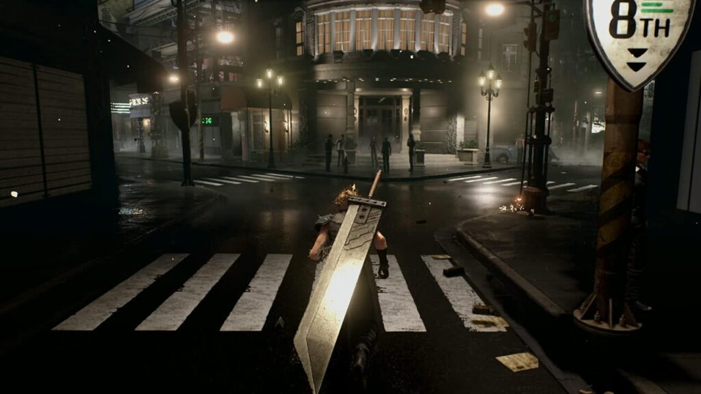 Final Fantasy VII demo leak - Cloud in street