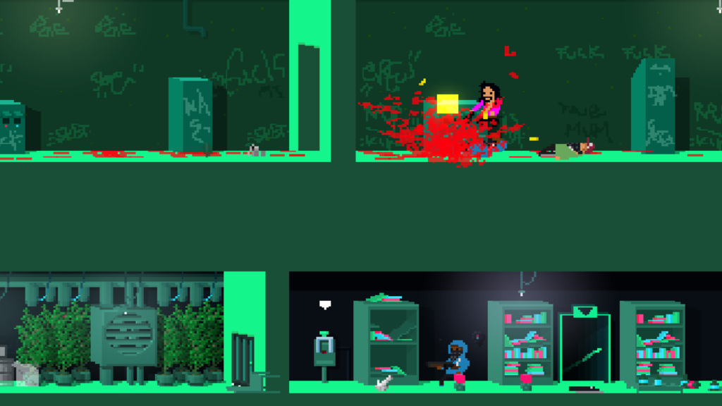 Not A Hero Super Snazzy Edition Switch review - blood fest