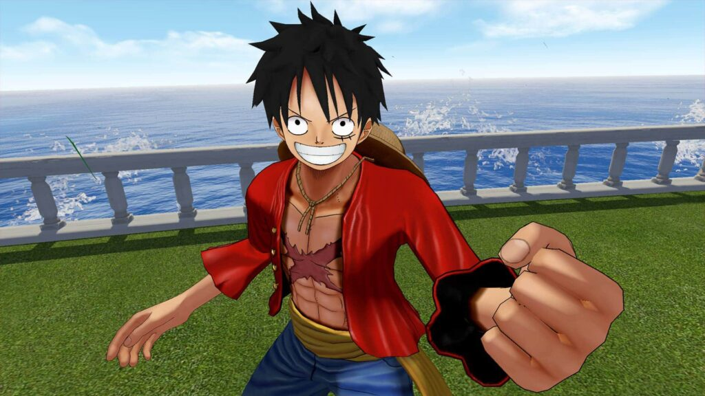 A close up of Luffy in One Piece Grand Cruise, PSVR