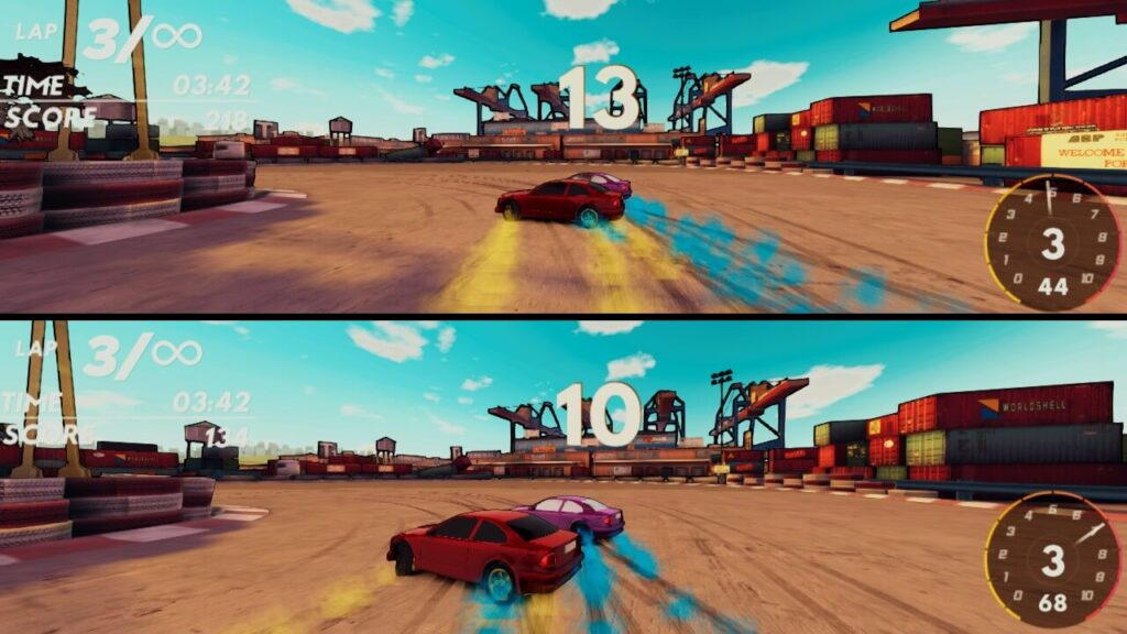 Real Drift Racing Switch Review - Split-screen