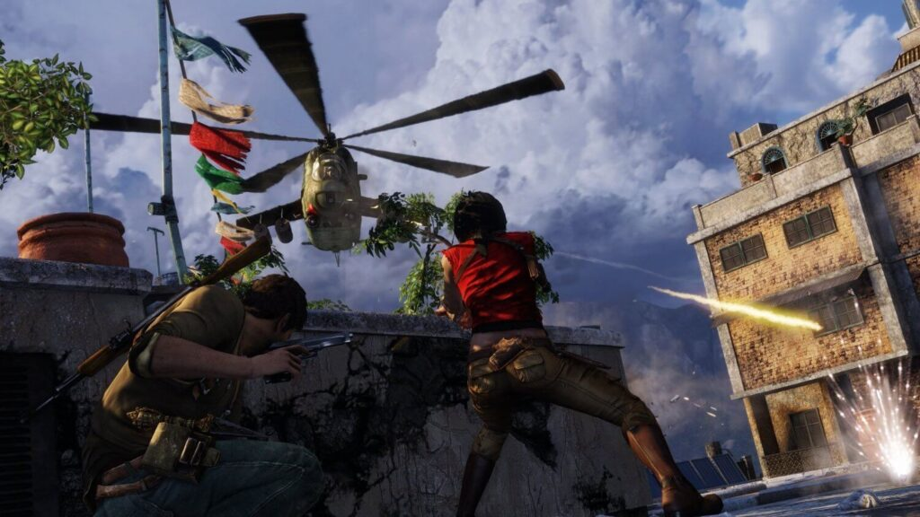 Nathan Drake takes on a Hind in Uncharted: The Nathan Drake Collection
