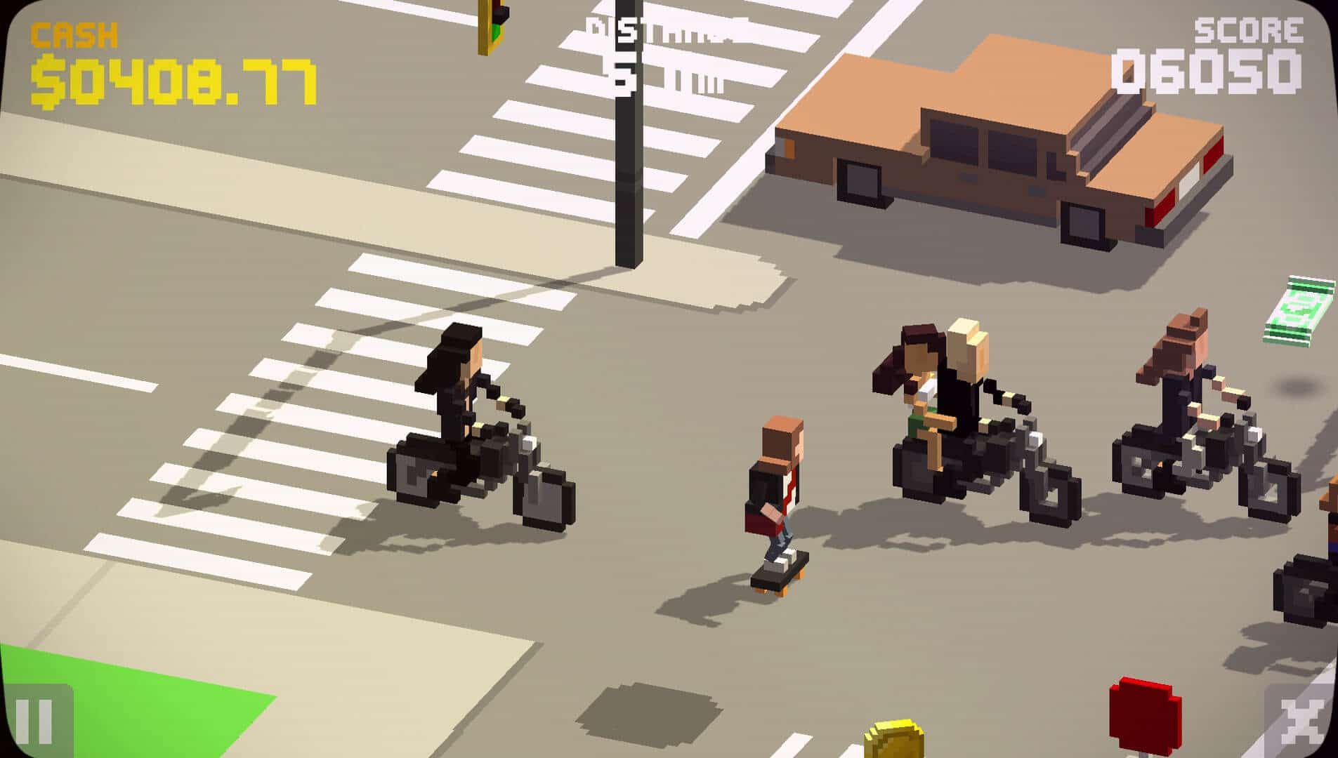 A biker gang 'just passing' in The Videokid