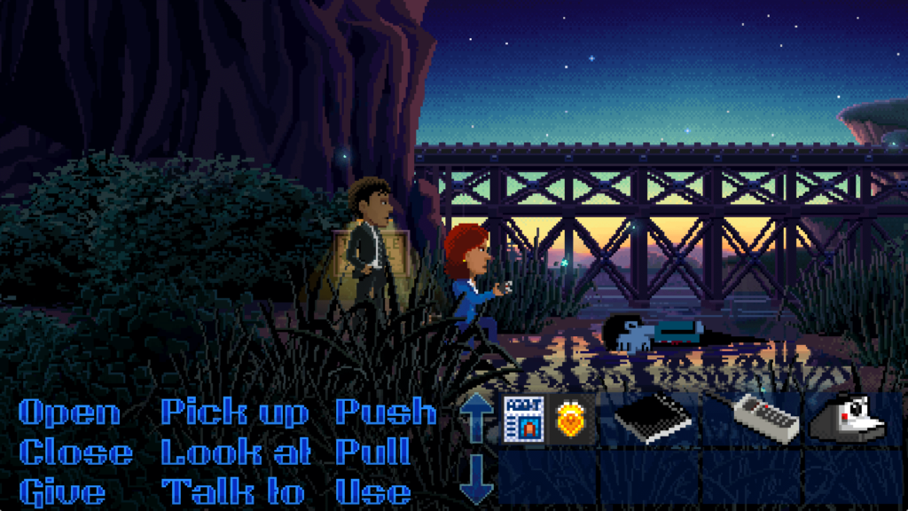 Thimbleweed Park Mulder and Scully reference