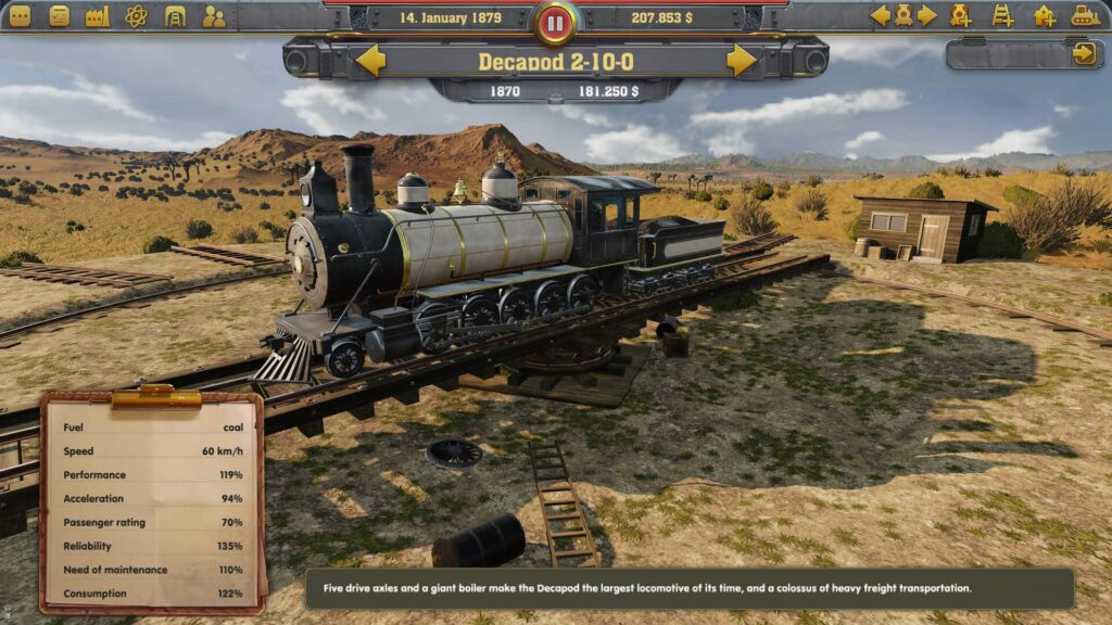 Railway Empire - Stats